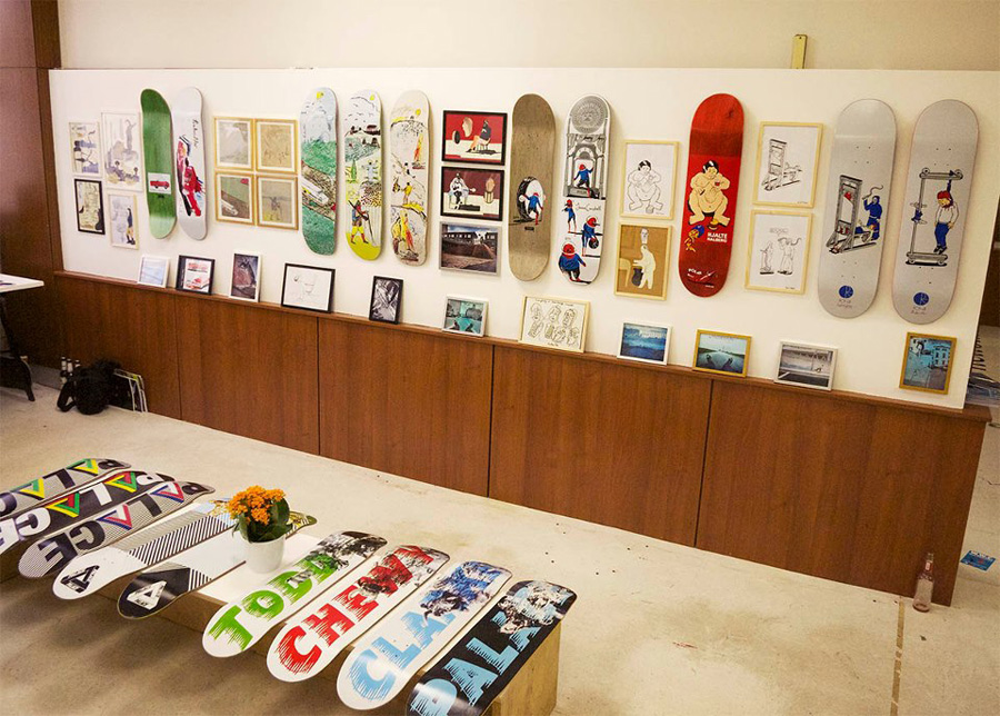polar & palace skateboards at bright tradeshow