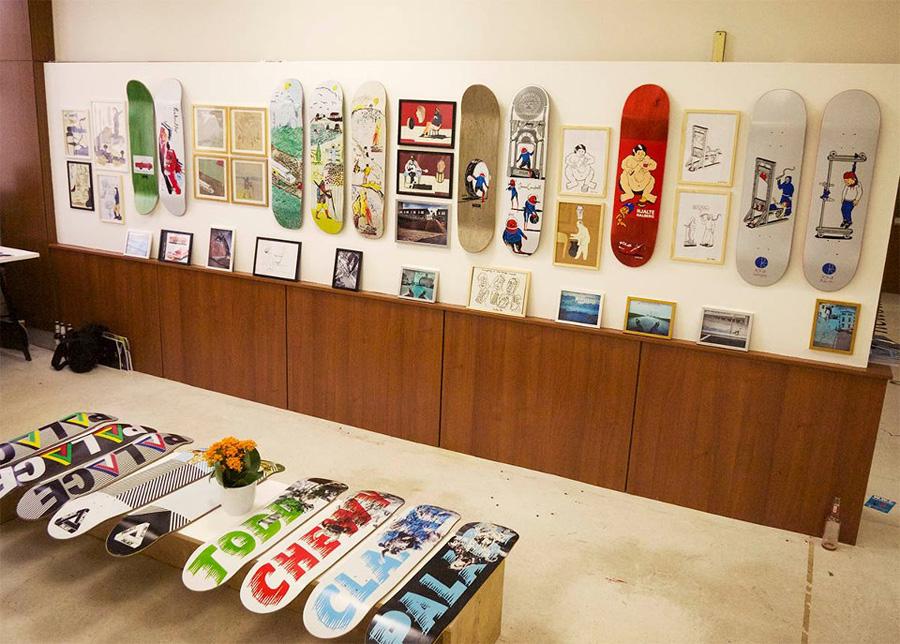 polar & palace skateboards at bright tradeshow