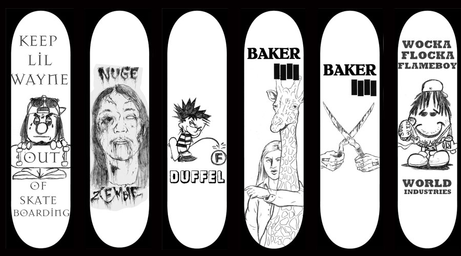 more rejected artwork - Skateboard Design Ideas