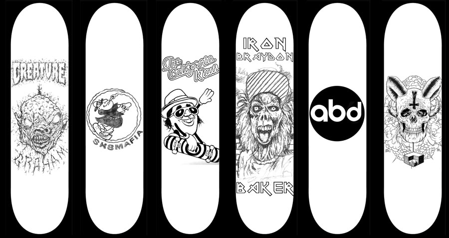 these board ideas were all rejected - Skateboard Design Ideas
