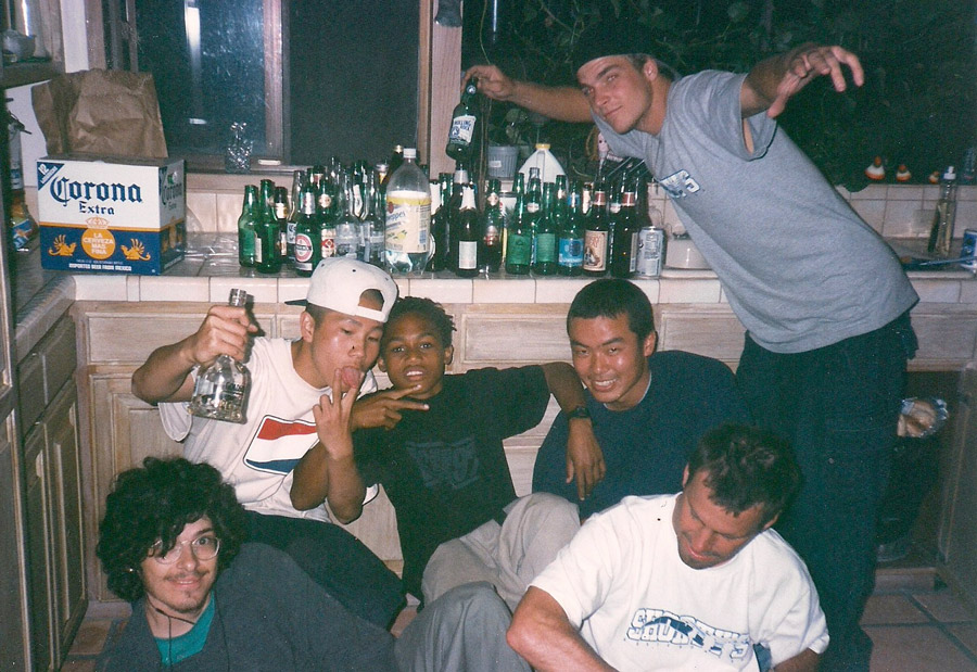 The crew in party mode. Bottom right is Shorty's owner Tony Buyalos, above him was our team manager George Nagai