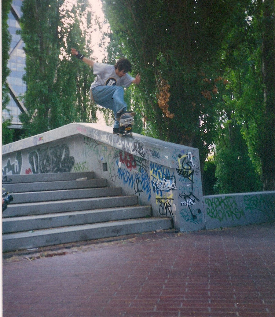 Steve Olson - 180 nosegrind 180 out – think this was 2nd try