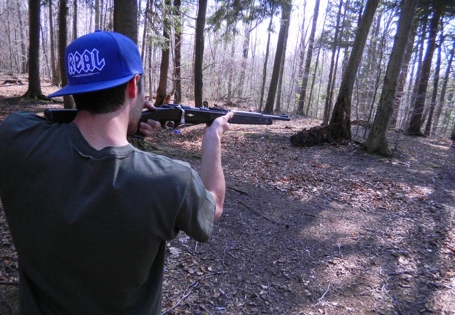 jake shootin in the woods / photo: jp gillispie