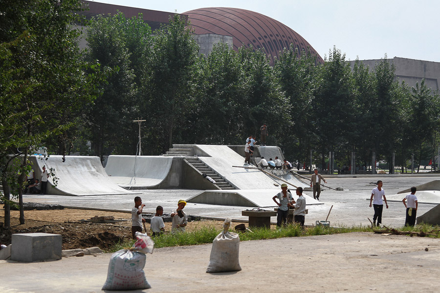 construction of pyongyang skate park