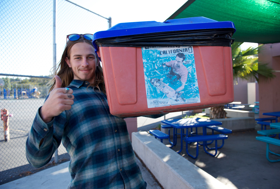 riley's dad has his own signature line of trashcans too / photo: jt rhoades