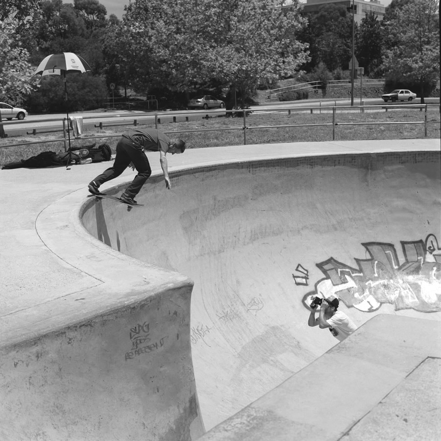 """When we made the video, this trick was called """"A backside Tailslide"""". All the wasted time we spent using those extra words. Lol. Ps. I ran in front of Julien after he made this and he are shit and had to do it again - Rick"""