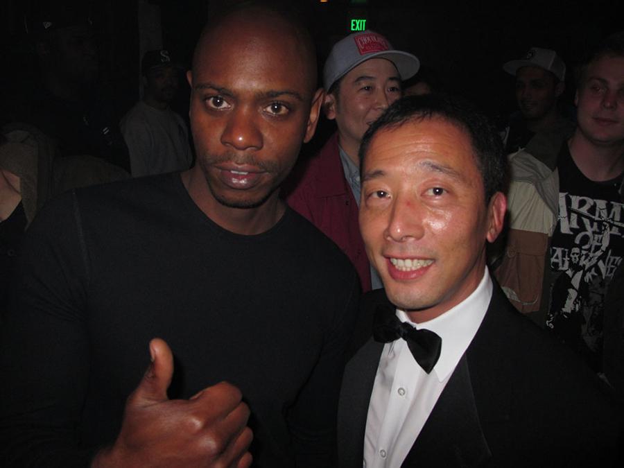 FTC Owner Kent Uyehara with Dave Chapelle / photo: Kent Uyehara