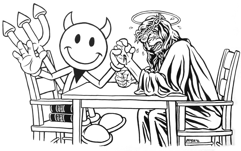 mckee designed the devil man (left) and flame boy and wet willy / artwork: mckee