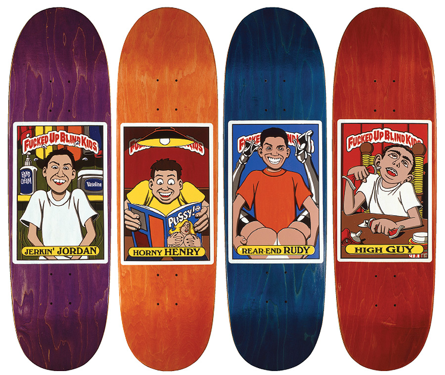 blind skateboards deck series (1992) / art: mckee