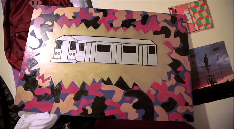 kevin's train art / photo: zoo york