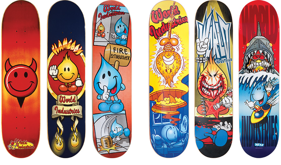 world industries decks / photo courtesy of winston tseng