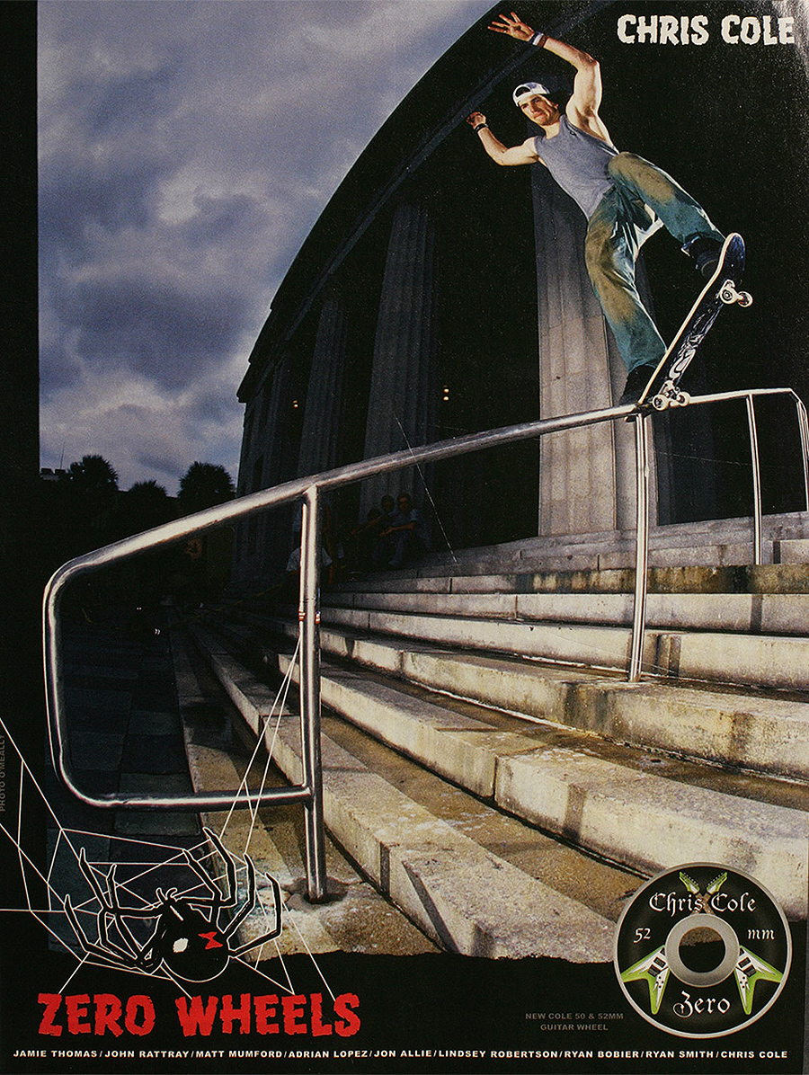 Cole Zero Wheels Ad circa 2001 / 2001