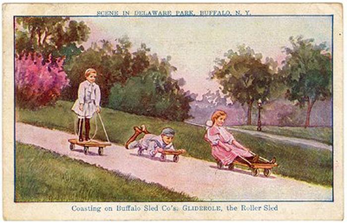 Prehistoric skateboards, 1910