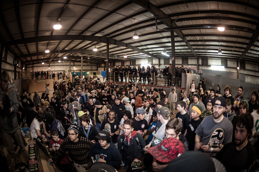Always great to see how many skate rats show up to support a good cause.