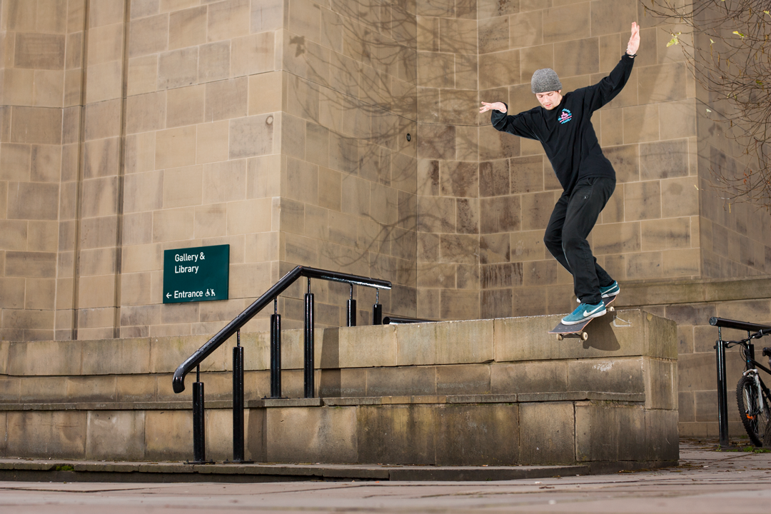 ollie over the rail to backlip