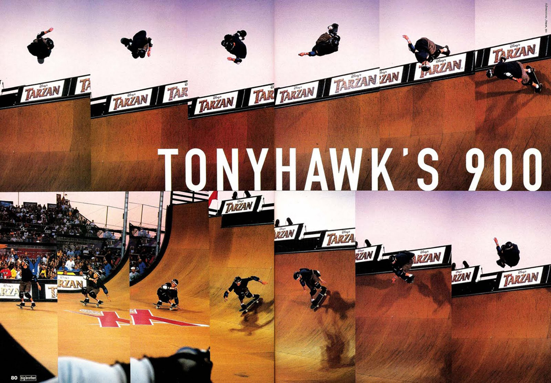 Tony Hawk 900 original sequence ran in Big Brother Magazine