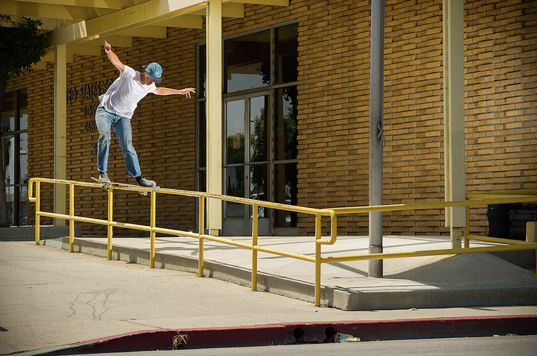 boardslide pop-over, photo: Brent O'Donnell