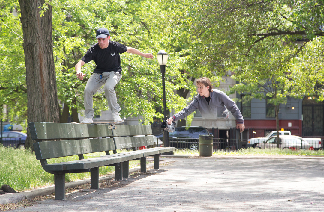Even wonder why Bronze videos are filmed so smoothly? It's cause Peter floats when he follows... Kevin Tierney boardslide in Crown Heights, BK