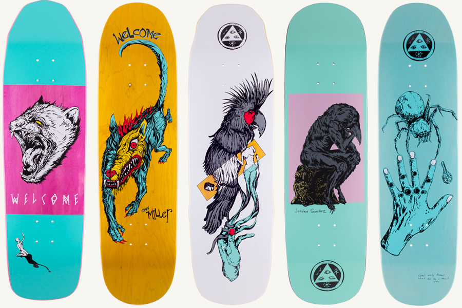 Welcome Skateboards Infinitely Batty On Nimbus 5000 ... |Welcome Skateboards Bird Graphics