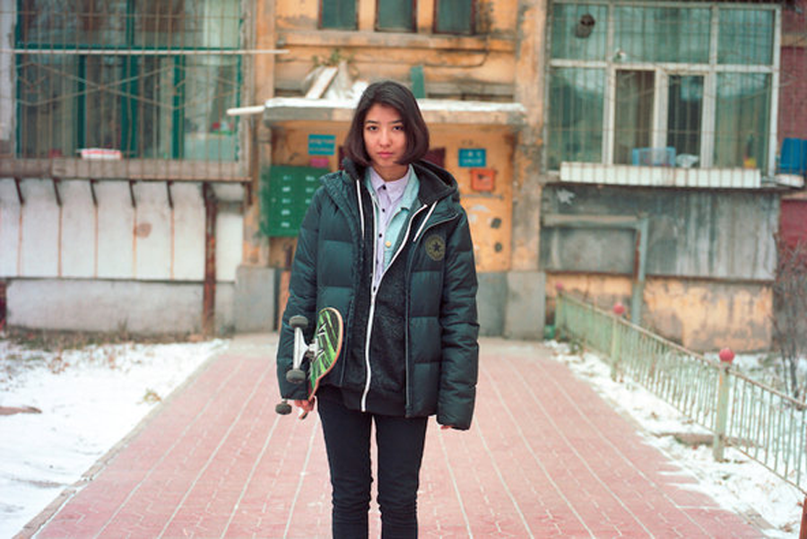 girl skater in urumqi, china / photo: xie shi