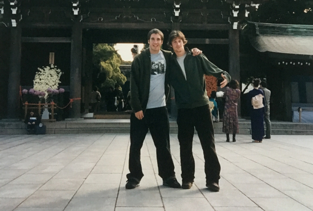 joe and tim in japan circa 2001
