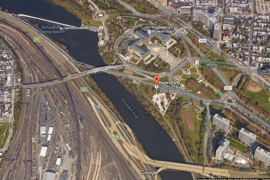 satellite image of paine's park