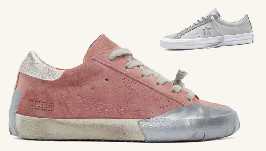 golden goose rips up and off cons