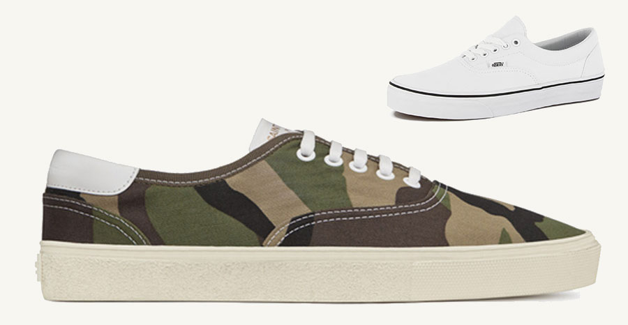 saint laurent paris rips off vans