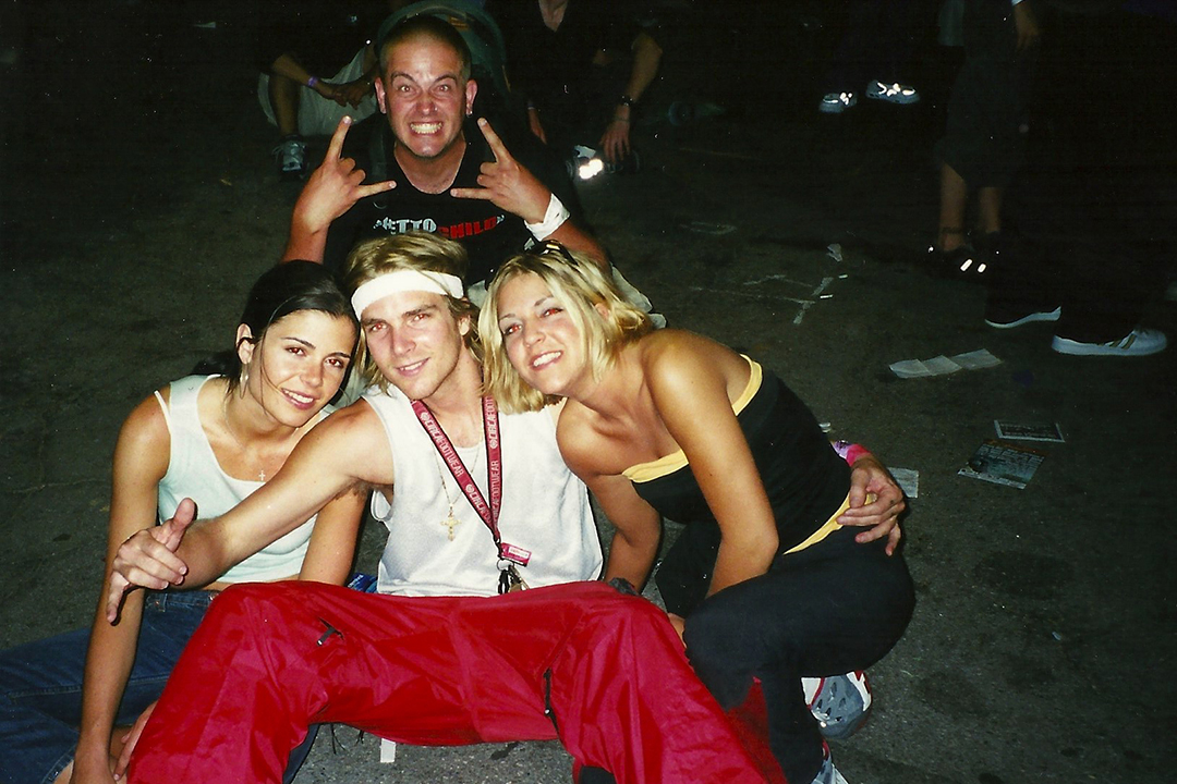 katherine, muska, muska's sister and erik hatch in the back circa 2000